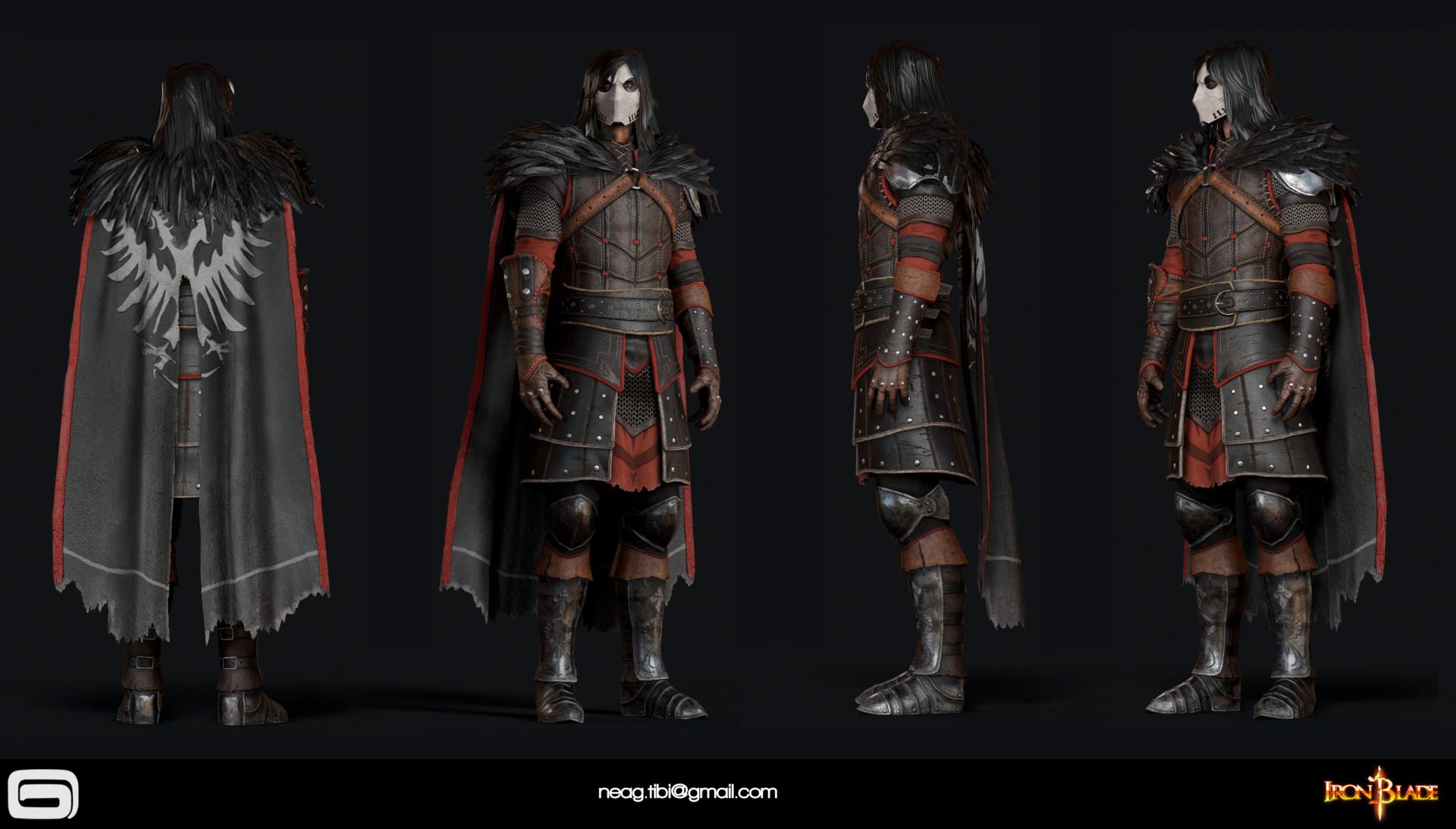 Tibi neag tibi neag iron blade mc armor 11c low poly