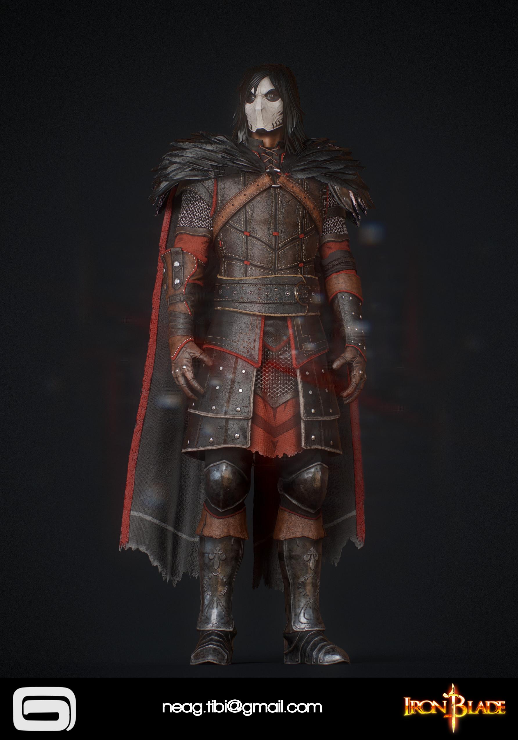 Tibi neag tibi neag iron blade mc armor 11c low poly 02