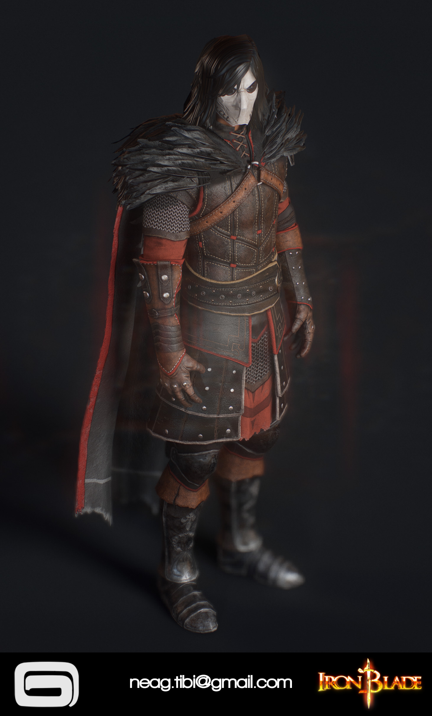 Tibi neag tibi neag iron blade mc armor 11c low poly 03