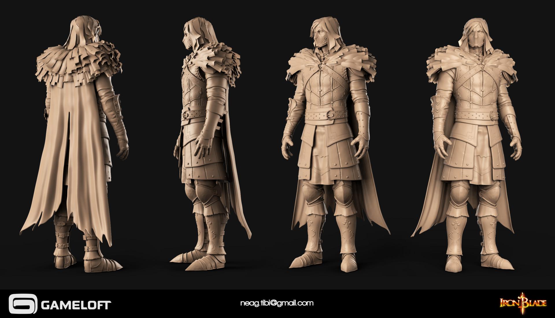 Tibi neag tibi neag iron blade mc armor 11c high poly