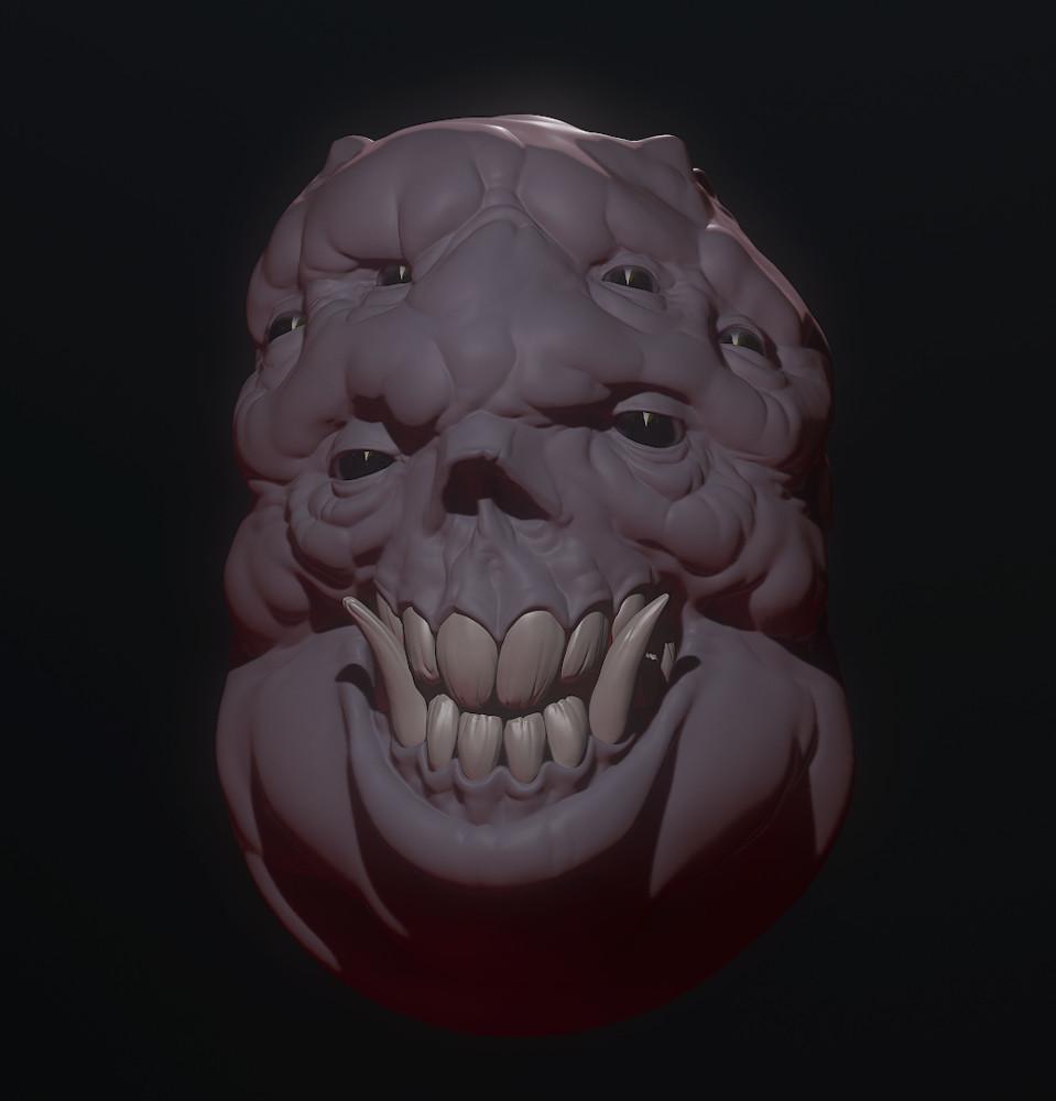 WIP Monster Head