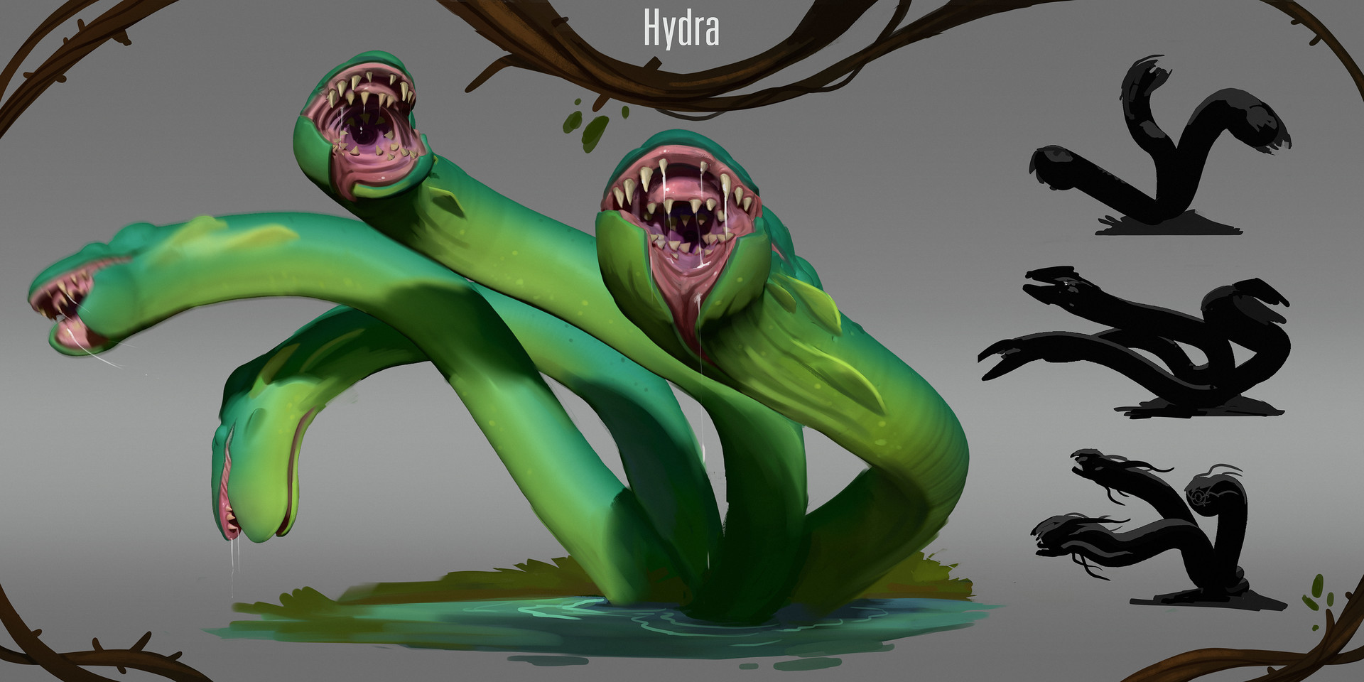 Tim kaminski creature swampy forest hydra no text