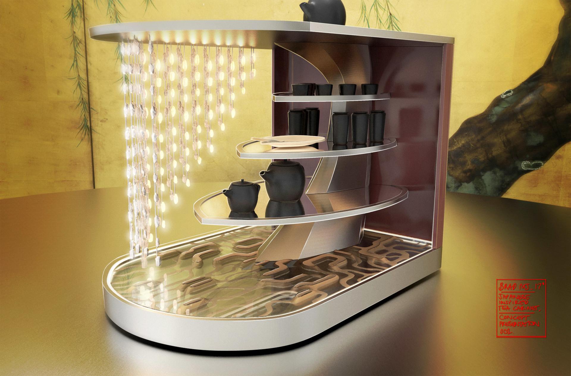 Japanese Tea Cabinet - prop concept / design