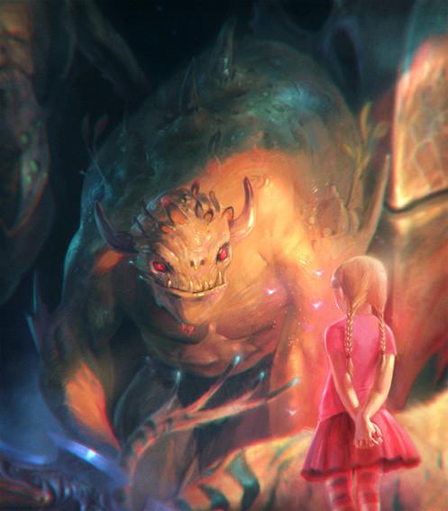 Marta nael girl and monsters closeup