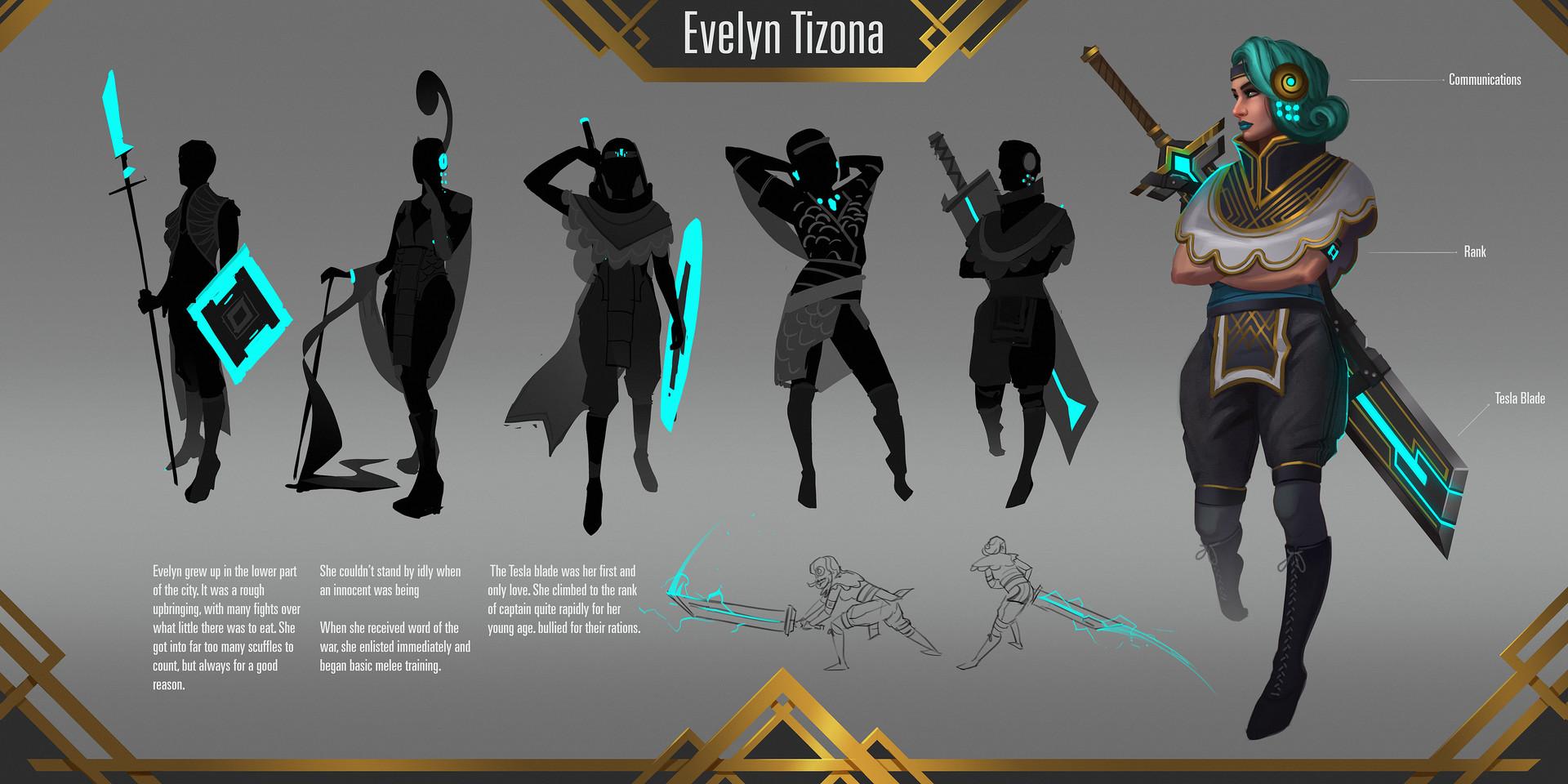 Tim kaminski character evelyn tizona