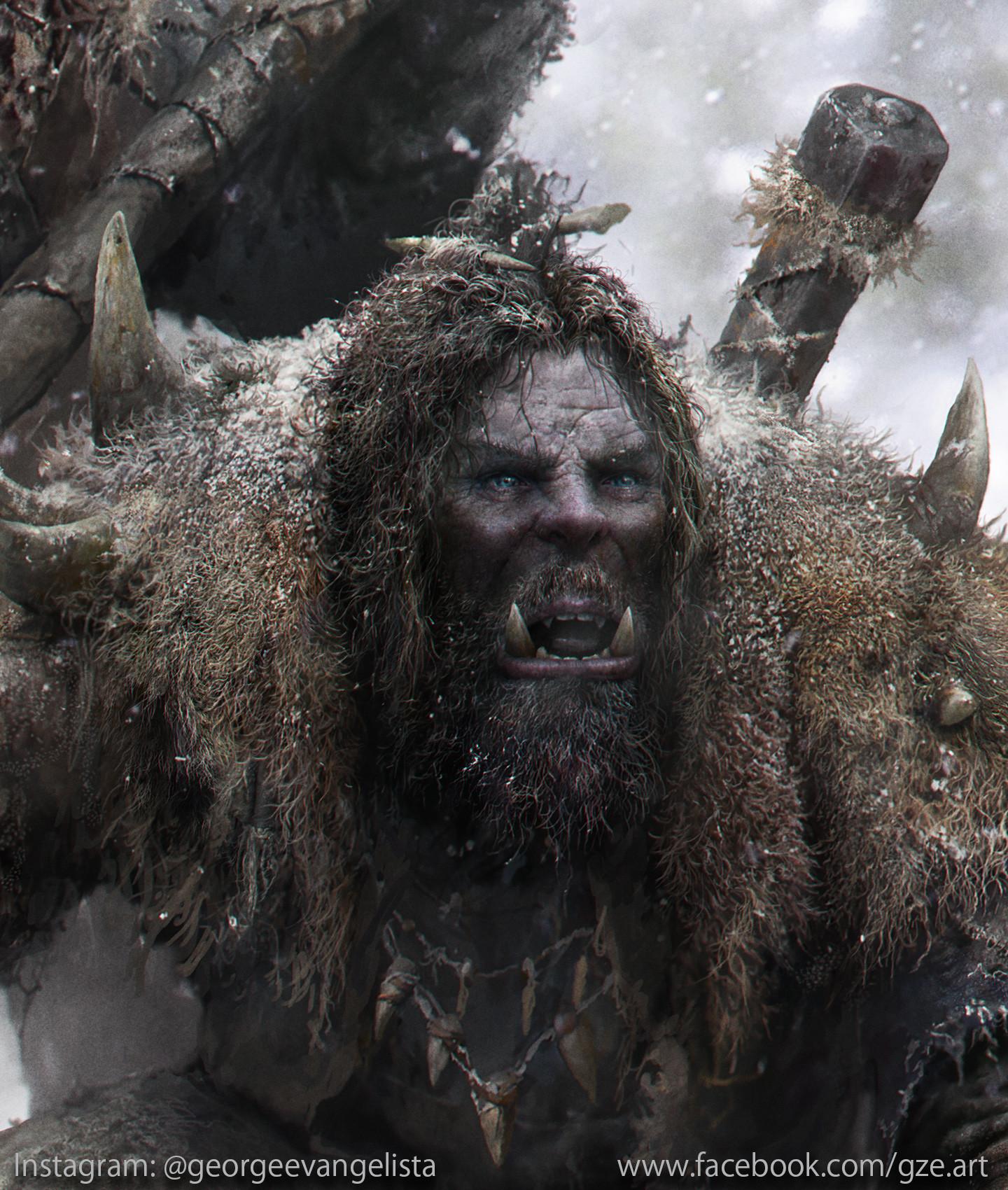 George evangelista snow orcs hunters close up 1