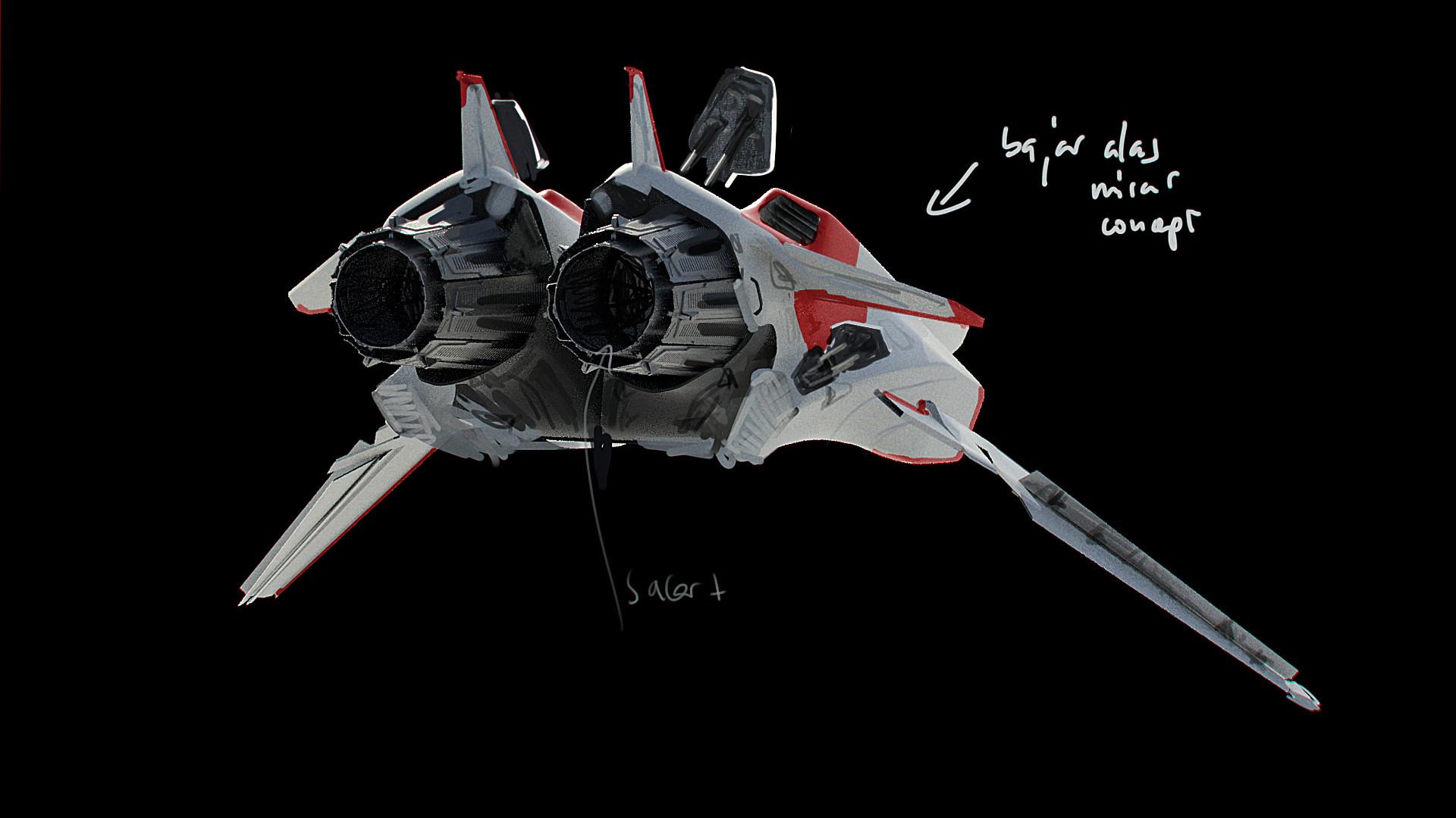 German casado fraga asl spaceship 017 a back overpaint
