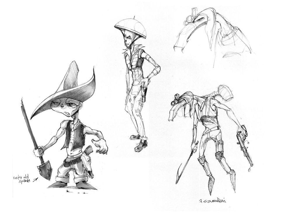 Stijn windig 7samurai sketches 03
