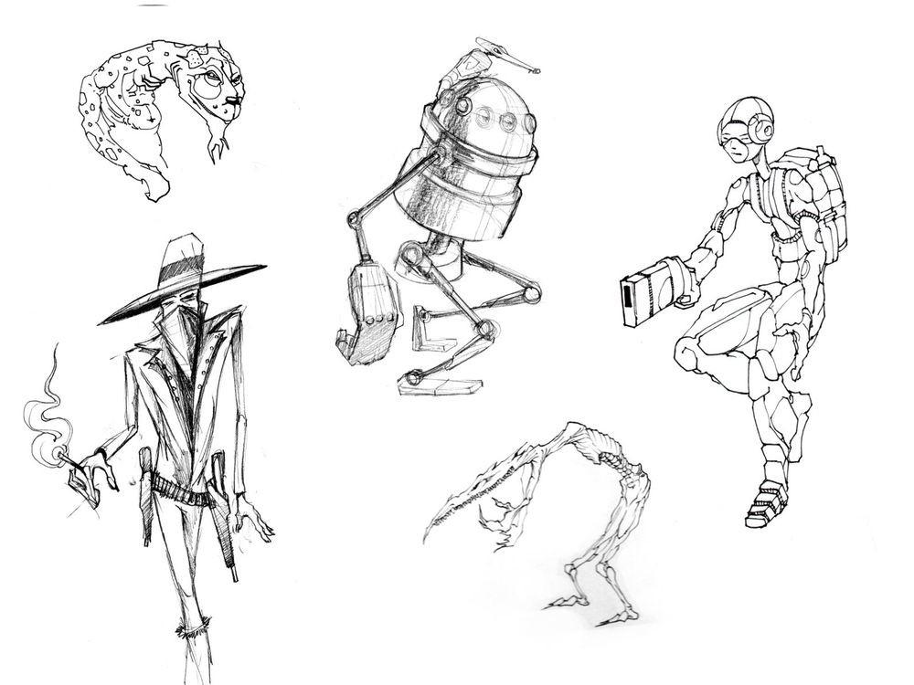 Stijn windig 7samurai sketches 05