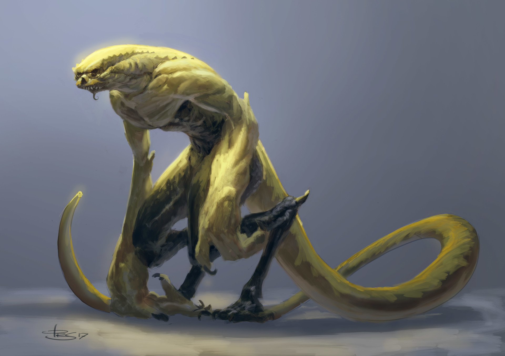 Lizard man dude