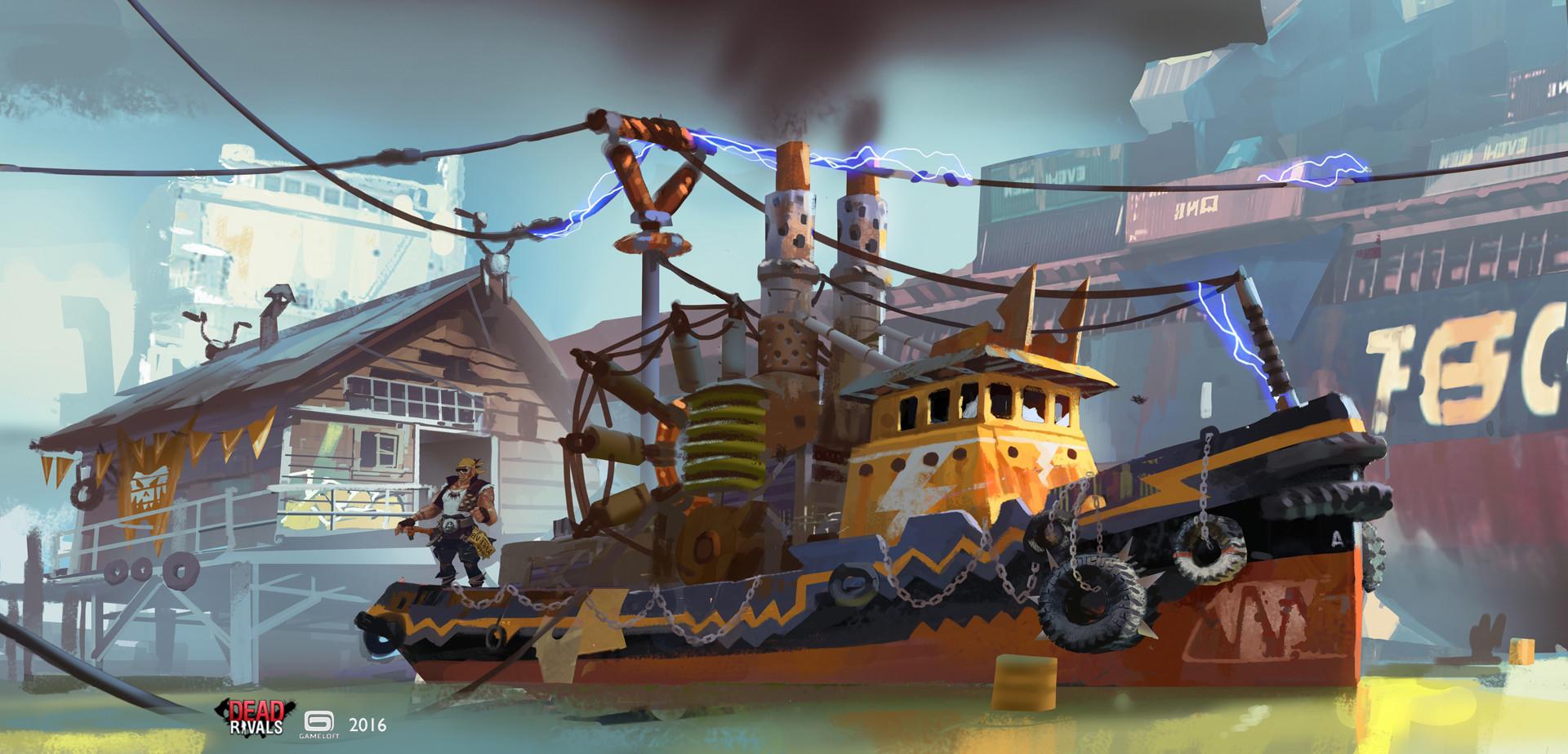 Adrien girod dw power boat 02 72 artstation