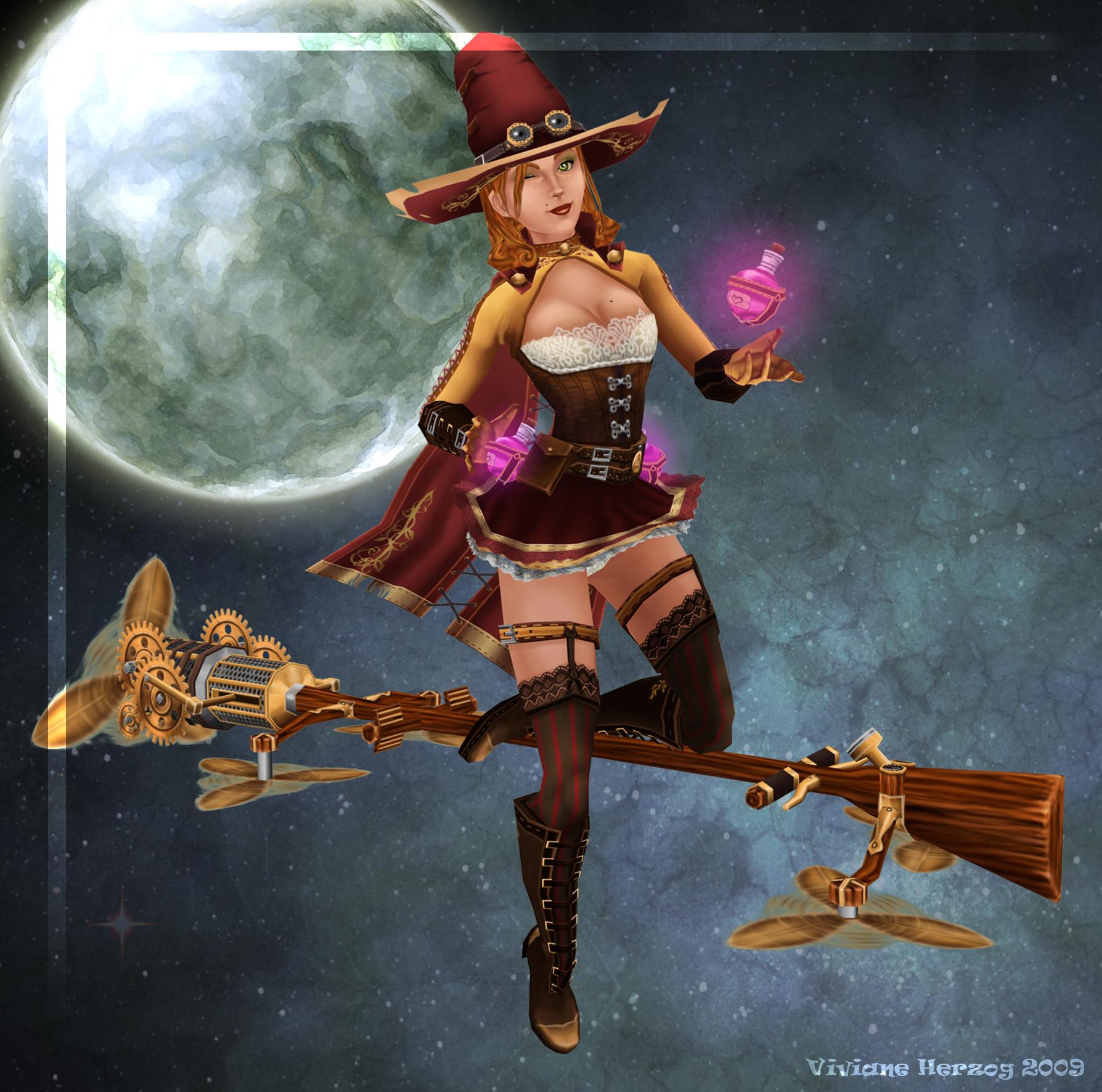 Viviane herzog witch pose
