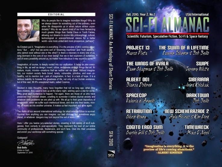 Glenn clovis sci fi almanac cover art by glennclovis