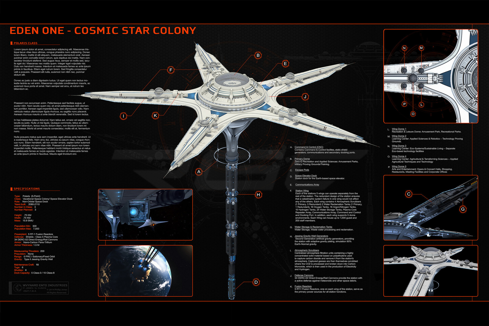 Glenn clovis commission project eden one space station by glennclovis
