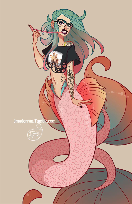 Jessica madorran character design seattle mermaid 2017 artstation