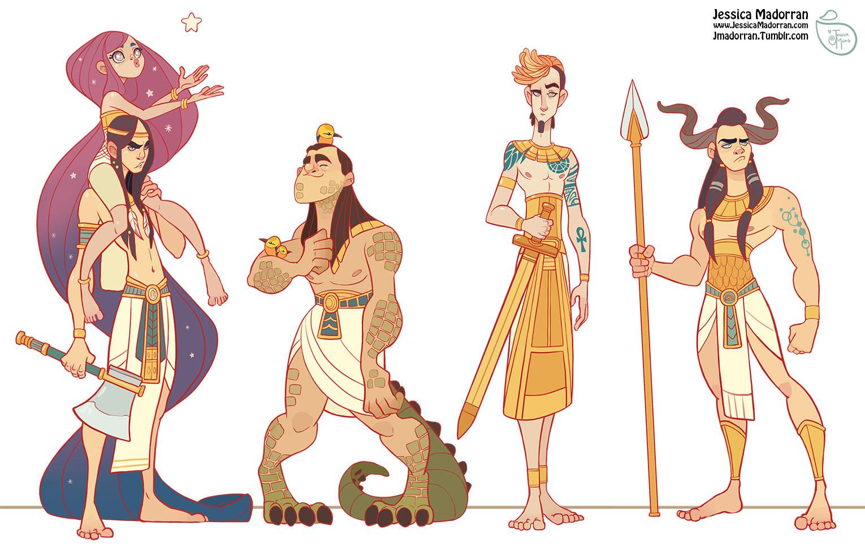 Jessica madorran character design egypt charcter line up artstation