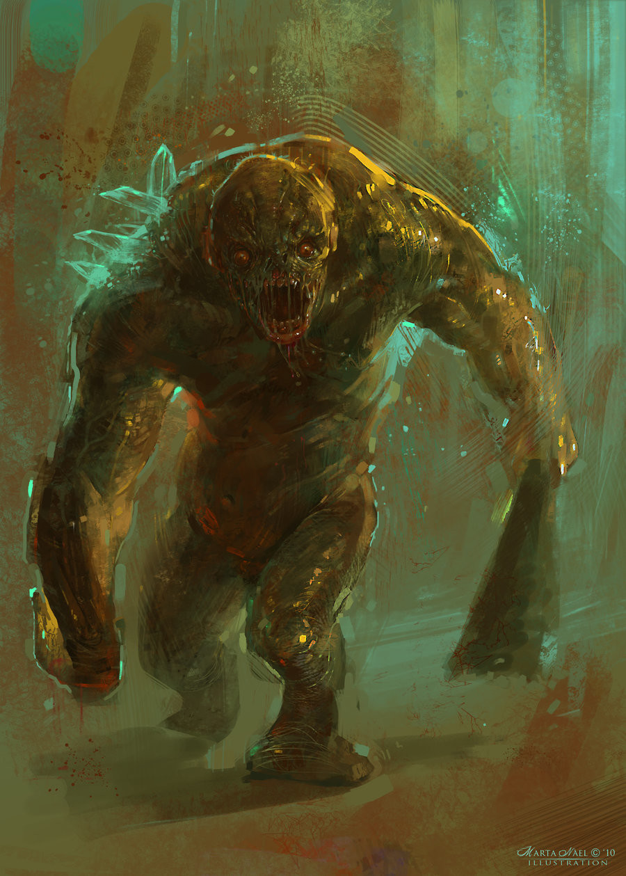 Marta nael strong zombie concept art by martanael d3vsh61