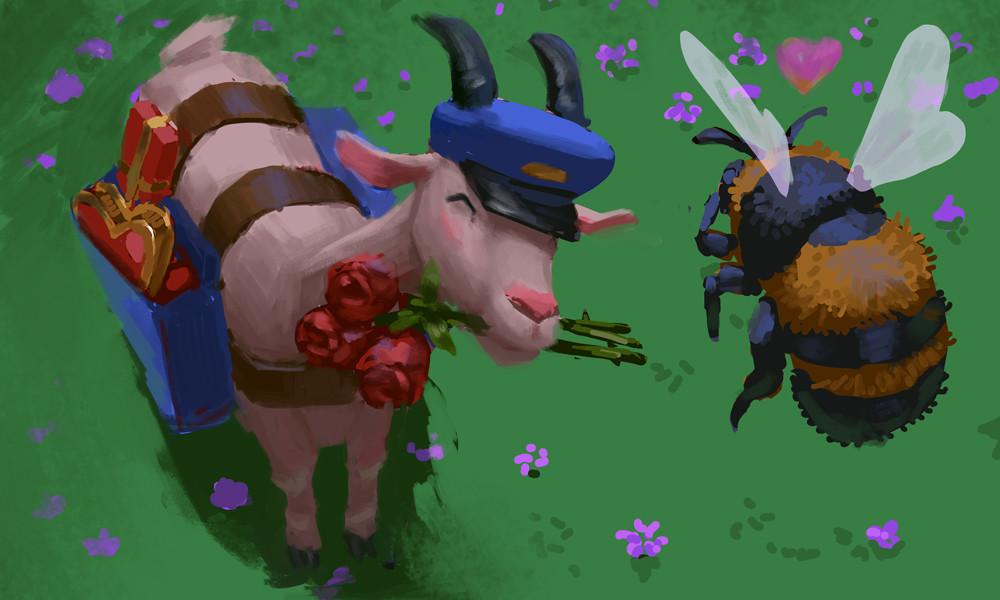 Devin platts valentines goat
