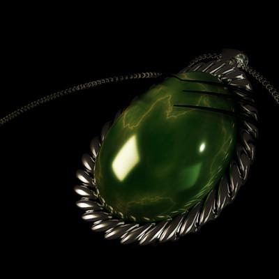 Kasia michalak green stone necklace