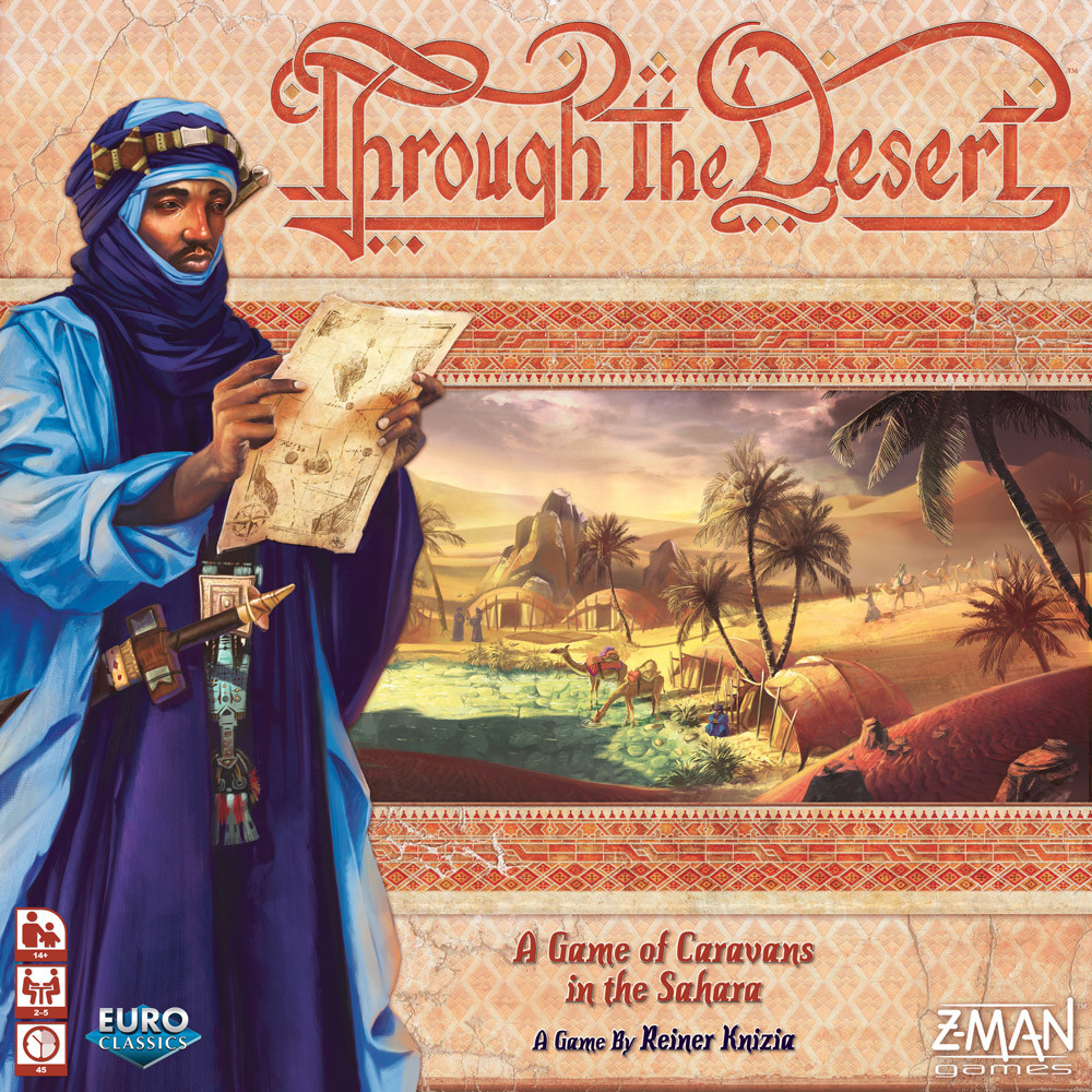 Through the desert, final cover, Z-Man games
