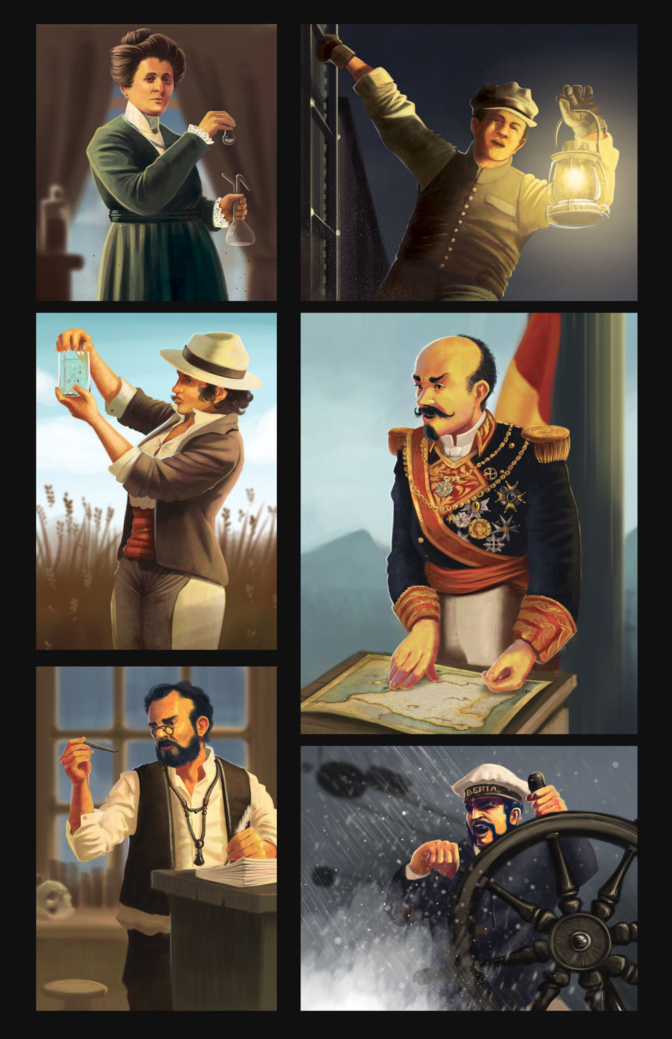 character art for Pandemic Iberia