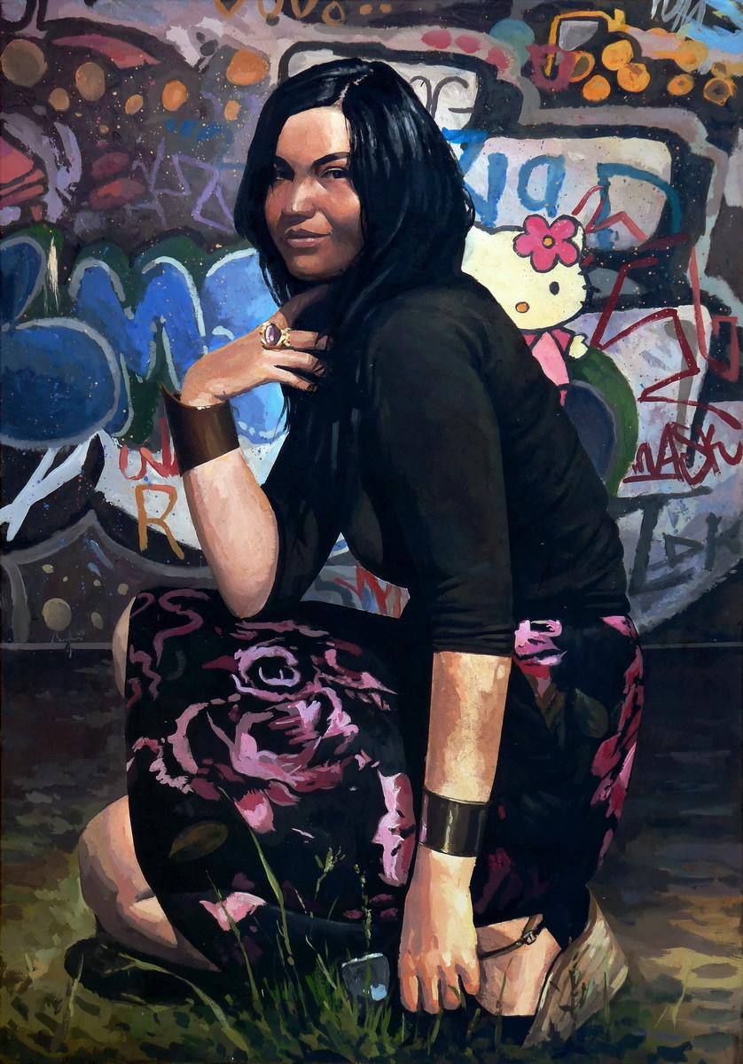 Saby menyhei adel 100x70 mixedmedia canvas resize