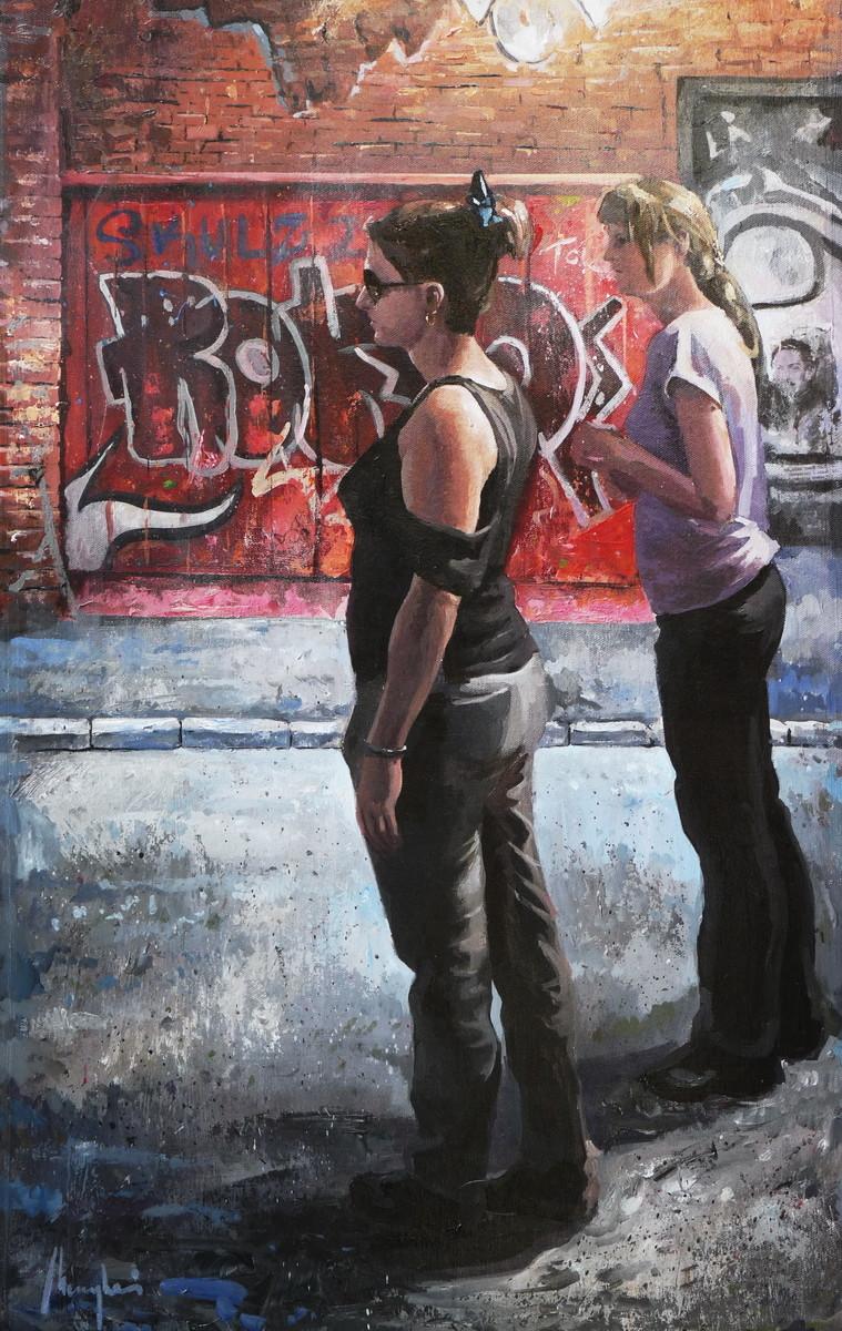 Saby menyhei kiskert utca acryl canvas 102x65 cm resize