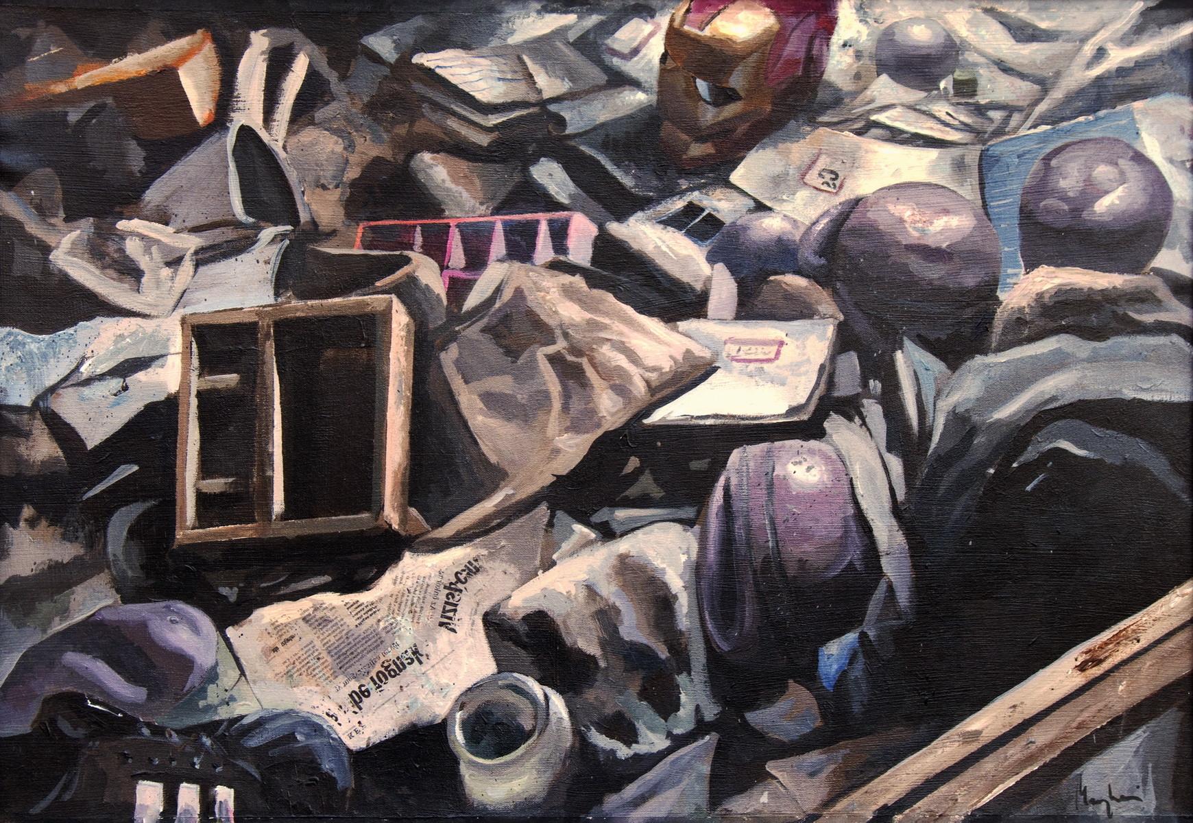 Saby menyhei old school acryl canvas 70x100 cm resize