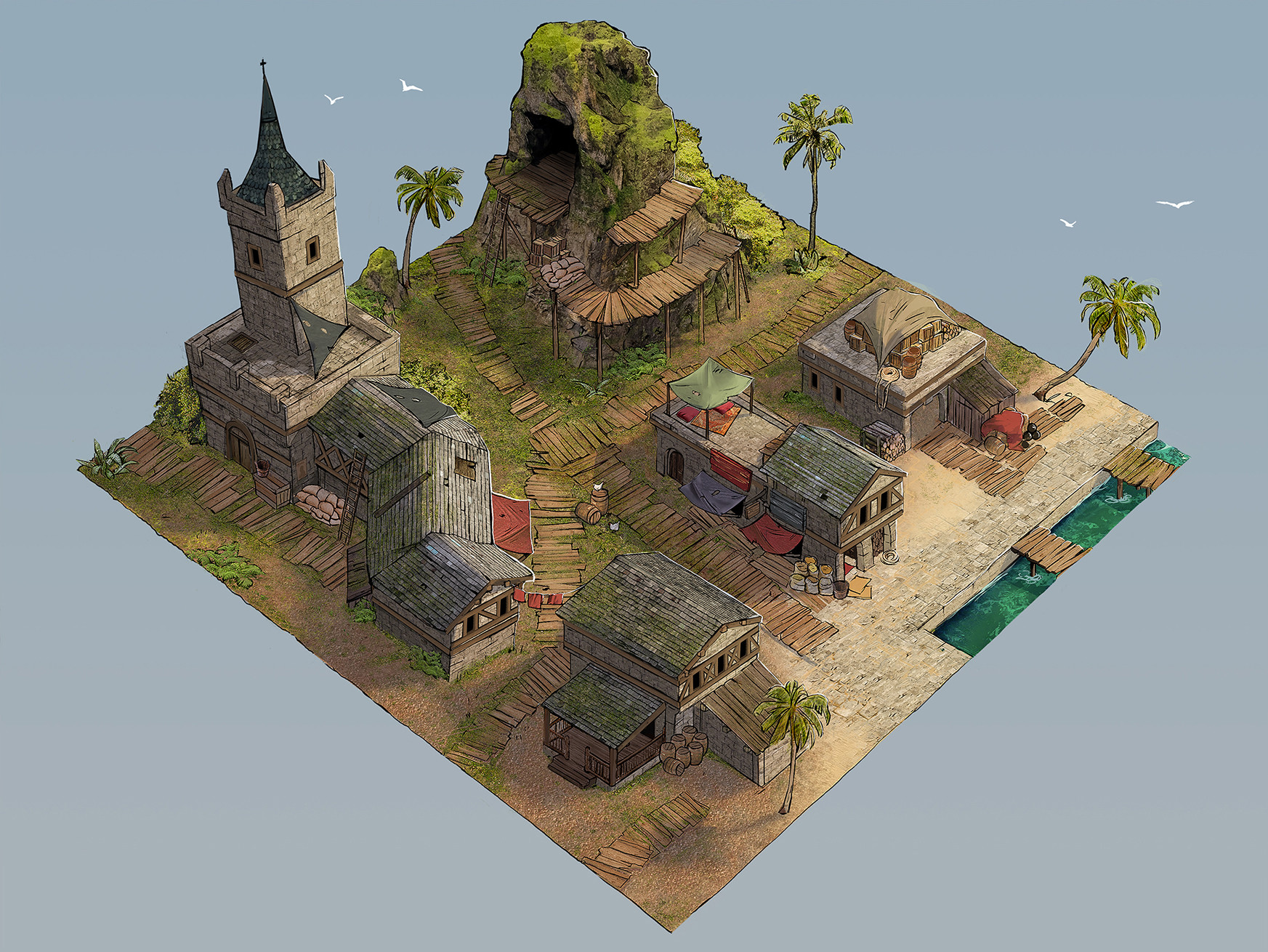 Burak cinar pirate village level design2111