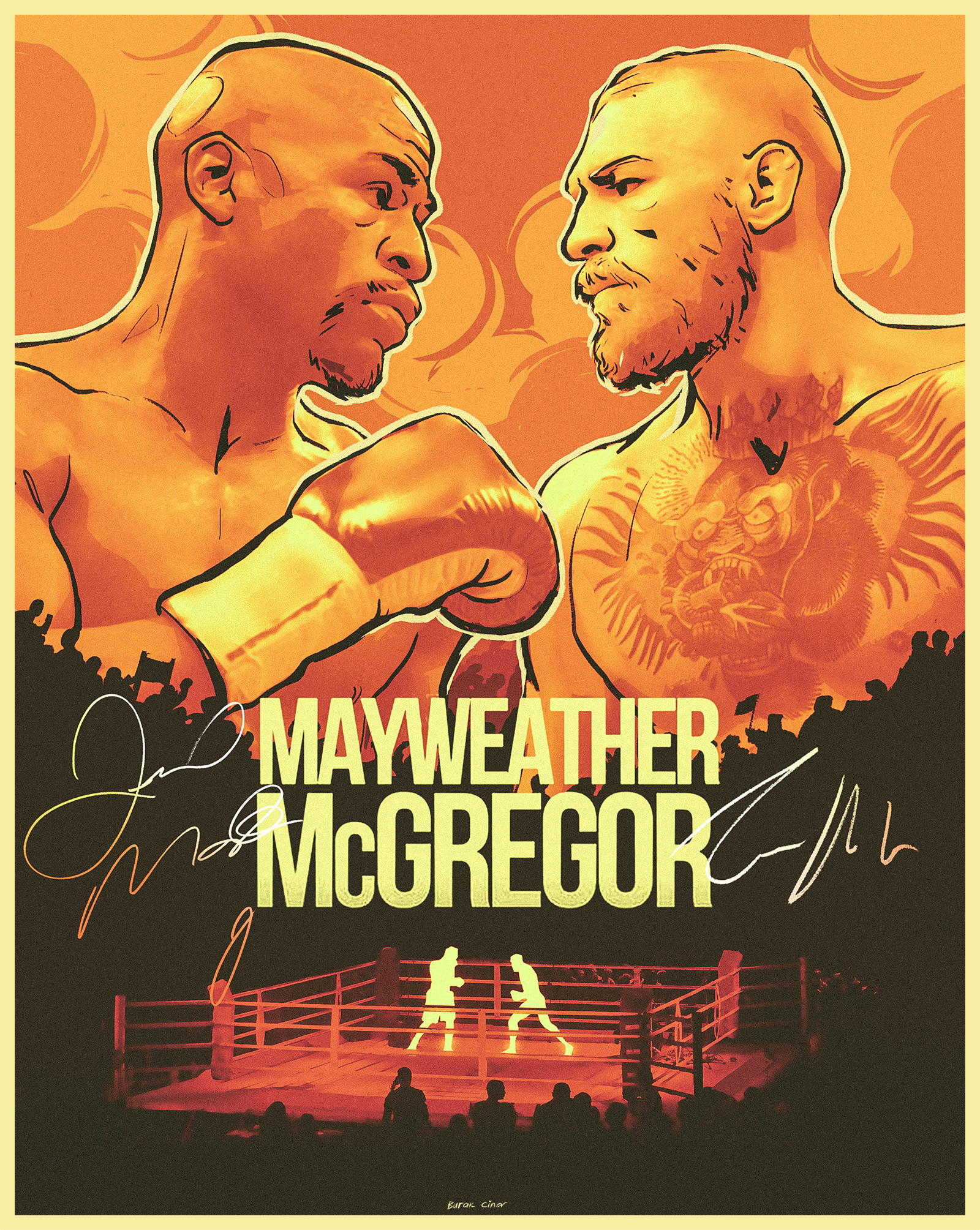 Maywheater vs McGregor poster