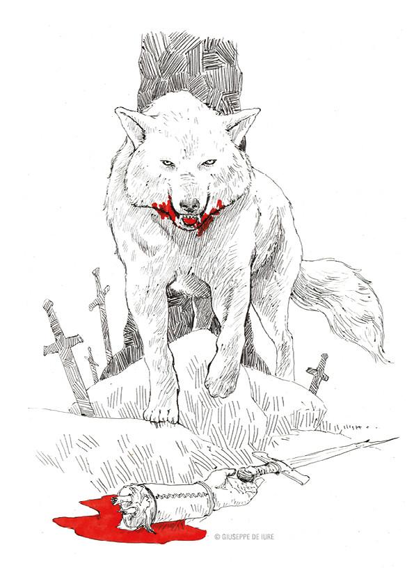 Giuseppe de iure giuseppedeiure ink sketch wolf