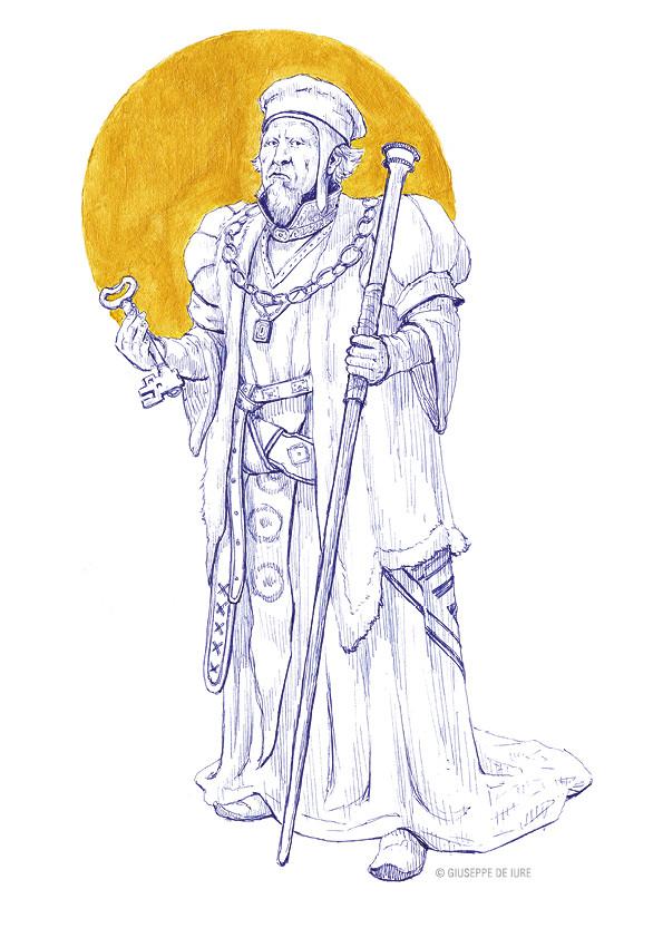 Giuseppe de iure giuseppedeiure ink sketch treasure keeper