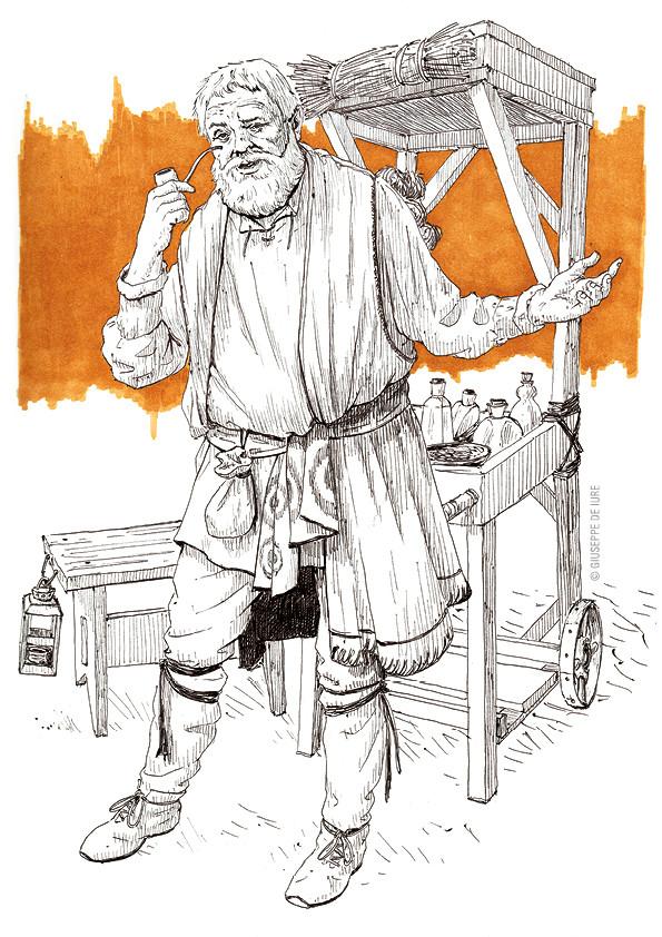 Giuseppe de iure giuseppedeiure ink sketch merchant