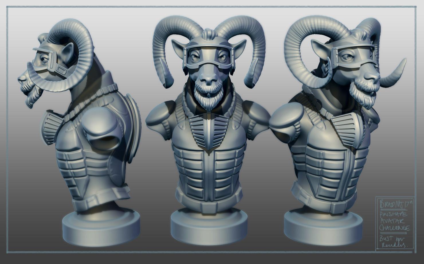 Ram Avatar Character Bust