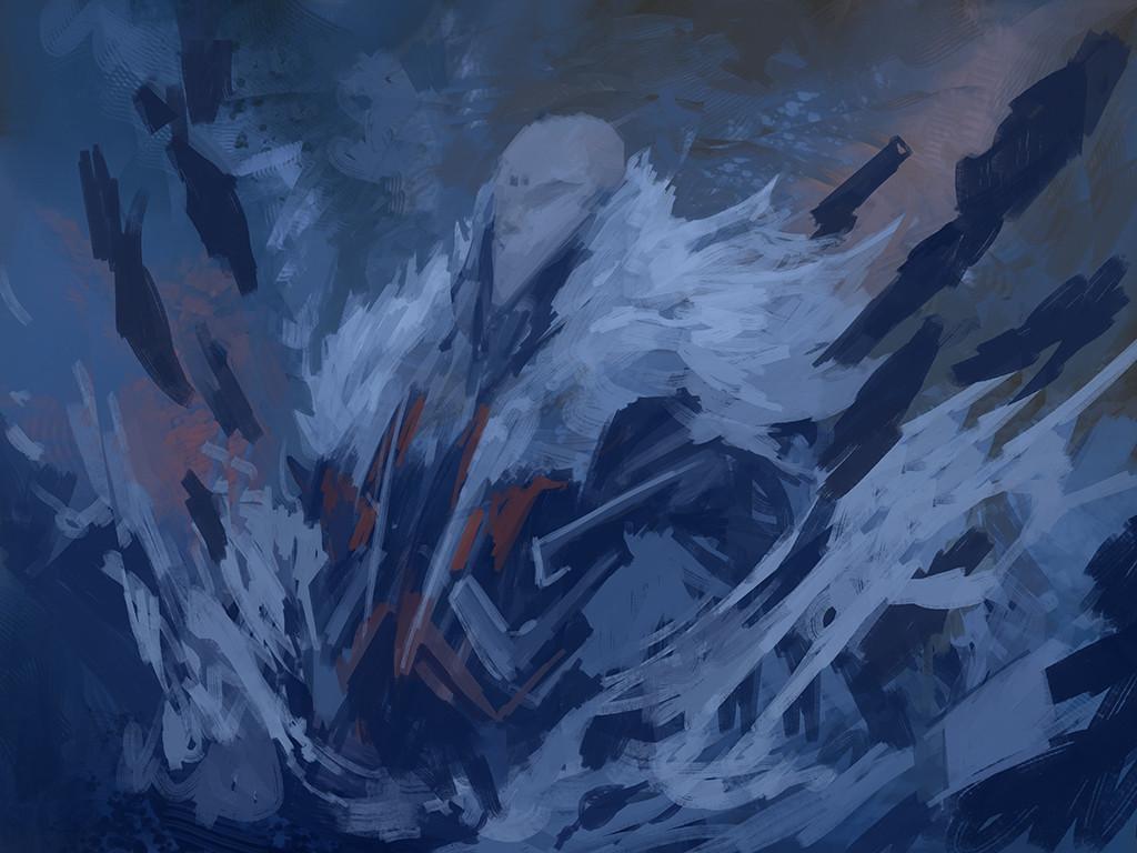 Alexandre chaudret paw illustration snow stepsd