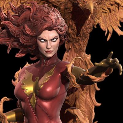 Marthin agusta dark phoenix submission hex powered artstation