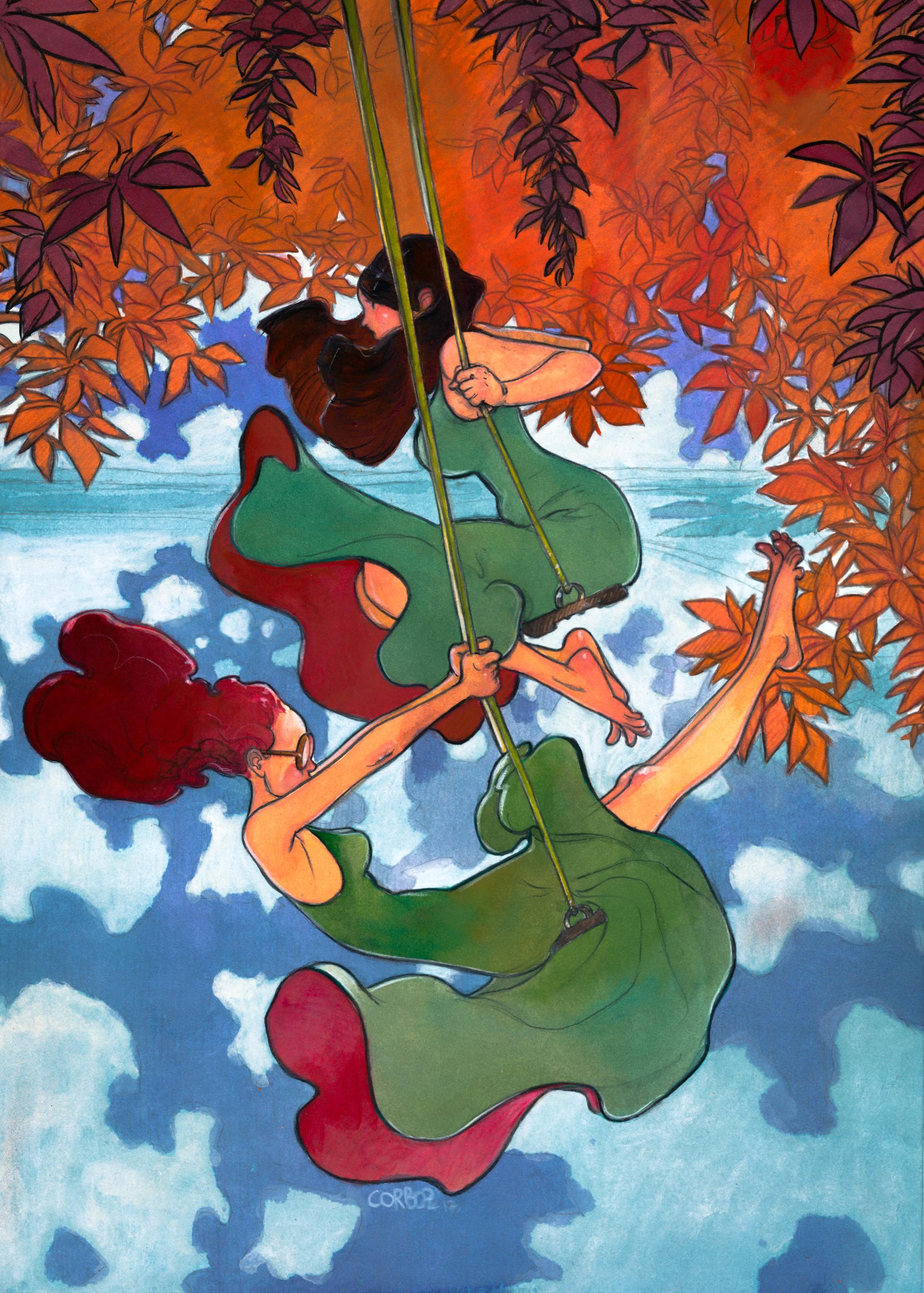 Swinging fall