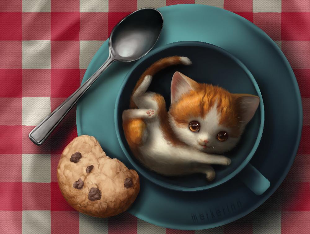 двух няшные картинки с котиками доброе утро пусть будут твои