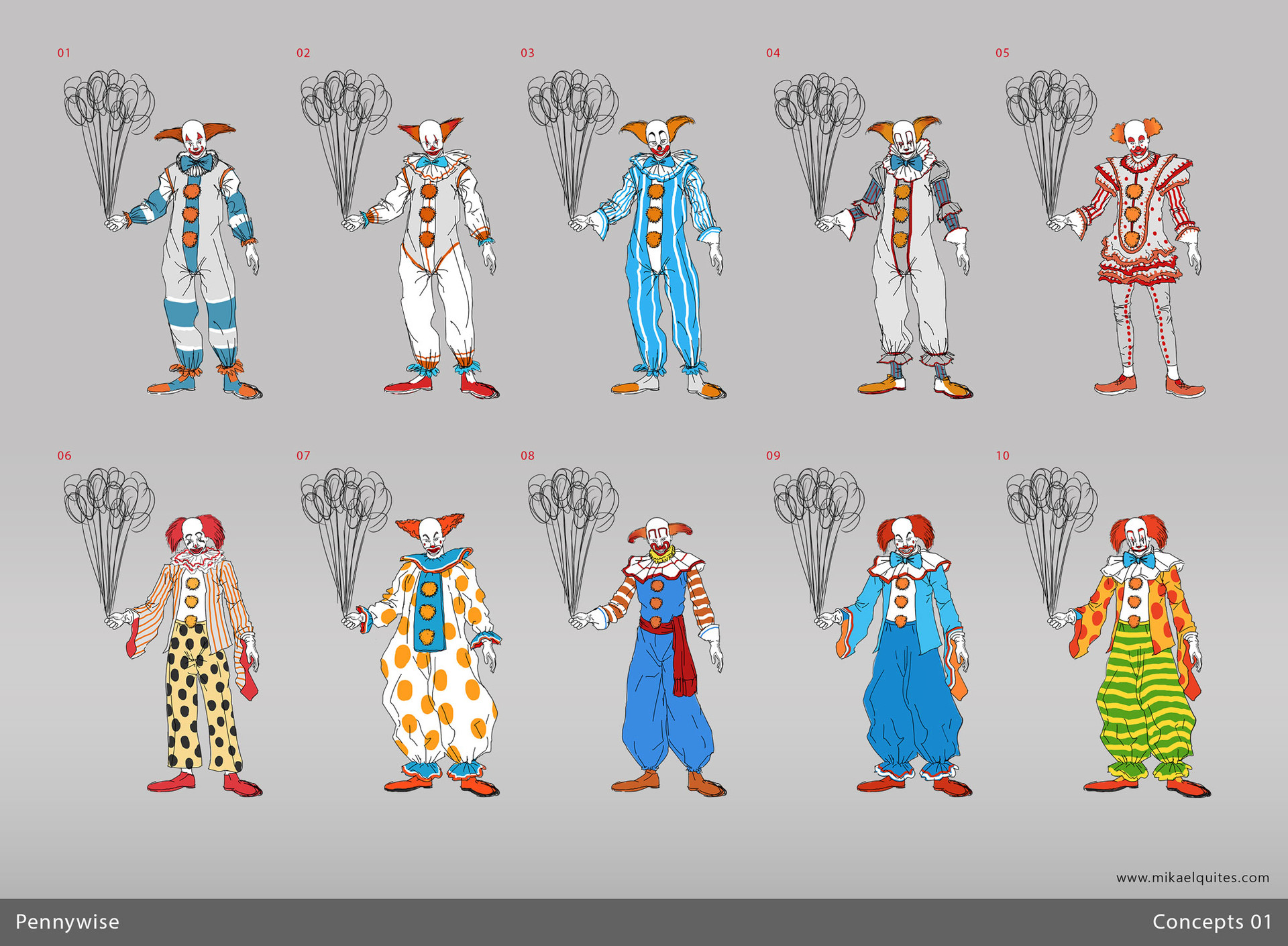 Mikael quites pennywise concepts all1