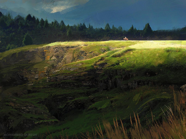 Vigilantes of Obasriya Mohammx-qureshi-landscape-sketch