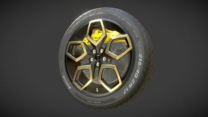 PBR Sport Car Wheel